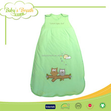 BSB009 anti-bacterial plain dyed knit down adult baby sleeping bag