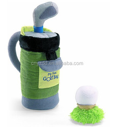 My First Golf Bag Plush Playset/ Stuffed Golf Bag/ Soft Sport Toy