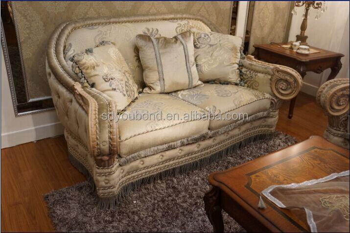 10055 n o classique haut de gamme design italie salon canap en bois canap en tissu ensemble. Black Bedroom Furniture Sets. Home Design Ideas