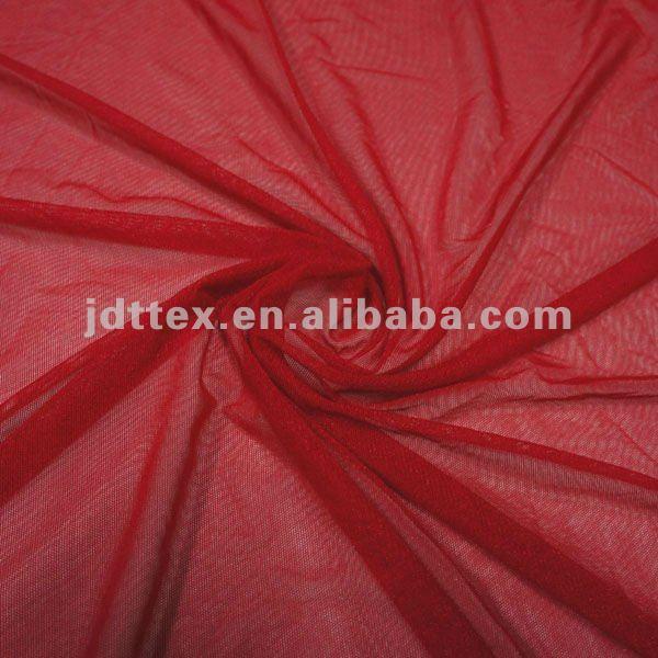Brillante spandex de nylon transparente tela para la ropa interior