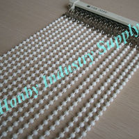8mm white color painted hanging door beads curtain for home decor