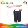 2015 hot sale 500D PVC tarpaulin red inflatable Waterproof Pvc Duffel Bag for boating