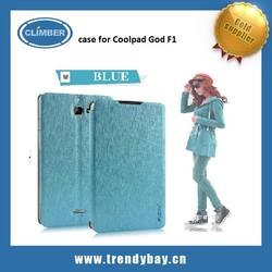 Factory price PUDINI new rain PU leather flip cover case for Coolpad God F1