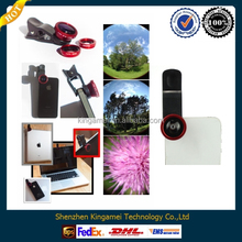 For All Mobile Phone Camera 180 Degree Fish Eye Lens 3 In 1 Universal Clip Lens for mobile phone
