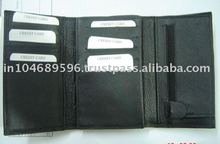 LEATHER MEN WALLET & LADIES CREDIT CARD HOLDER & COIN PURSE