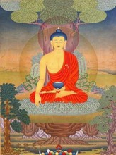 Tangka Buddha oil painting on canvas