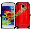 Cute Suitcase Design Luggage Box Style Hybrid TPU and Hard Case for Samsung Galaxy S5 i9600 G900