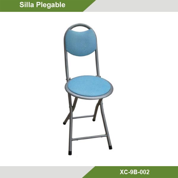 Silla plegable azul se puede utilizar para cocina comedor for Sillas de cocina plegables