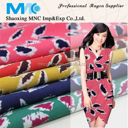 100% rayon fabric custom printed fabric discharge printing