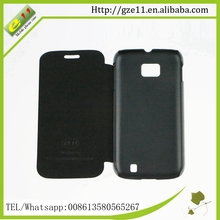 PU leather+PC crystal phone case for Tecno D5