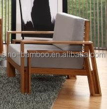 Modern design single seat sofa bamboo home furniture
