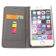 High quality Bussiness flip pu leather case for iphone 6 / plus with card slot, good phones protector