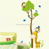 colorcasa ZYPB-7132 animal sticker kids sticker growth chart