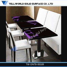 Acrylic White Square Dining Table Artificial Acrylic Stone Picture Of Dining Table Artificial Marble Dining Table