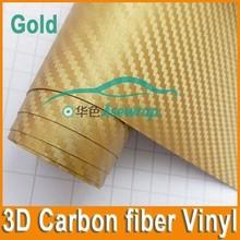 Wholesale 14 Colors High quality 1.52*30m PVC 3d carbon fiber Vinyl hot sale colored car wrap vinyl