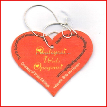 Red color heart shape room air fresheners