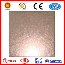 astm rose gold, rose red vibration finish surface stainless steel plate or sheet