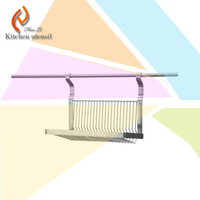 Import 304 stainless steel polish deal high quality kitchen wall mount storage shelf rack