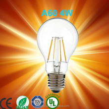 lampadine filamento led 2014 Newest design 6w led filament bulb, e27/b22 A60 led filament lamp A19