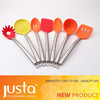 Hot Selling 11pcs knife+kitchen Utensils set Nylon with PP stand