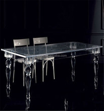 high end best selling acrylic dining table with clear legs
