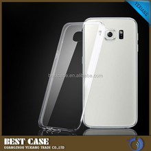 0.3mm thin clear silicone phone case for samsung galaxy s6