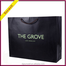 Dongguan luxury design big size paper bag & Shopping paper bag