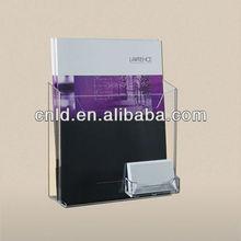 acrylic a4 brochure holder with business card pocket