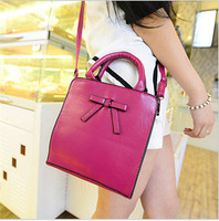 Cute bow knot hand bag for girls shoulder bags for school
