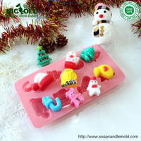 B0202 Decorative Silicone Christmas Molds cake tools candy forms festivel theme