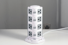 2500W rated power high quality 4.5A 4 layers 4USB plug socket tower