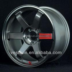 Hot sale 14'' 15'' 16'' 17'' 18'' inch aluminum alloy wheel rims TE37