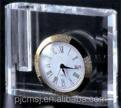 fashionable crystal table clock