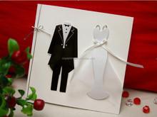 elegant popular 2016 wedding invitation greeting card with bride and groom