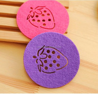 Hot seller different shape needle felt cup mat