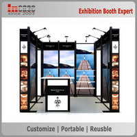 Customized outdoor mdf aluminum extrusion trade show booth