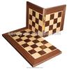 Unique wood travel folding chess board
