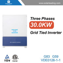 New design 30kw on grid solar inverters with pv solar panel for commercial photovoltaic systems