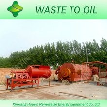 Waste tyres into crude oil pyrolysis machine
