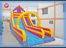 2015 Cheap factory inflatable water spiderman slides for sale