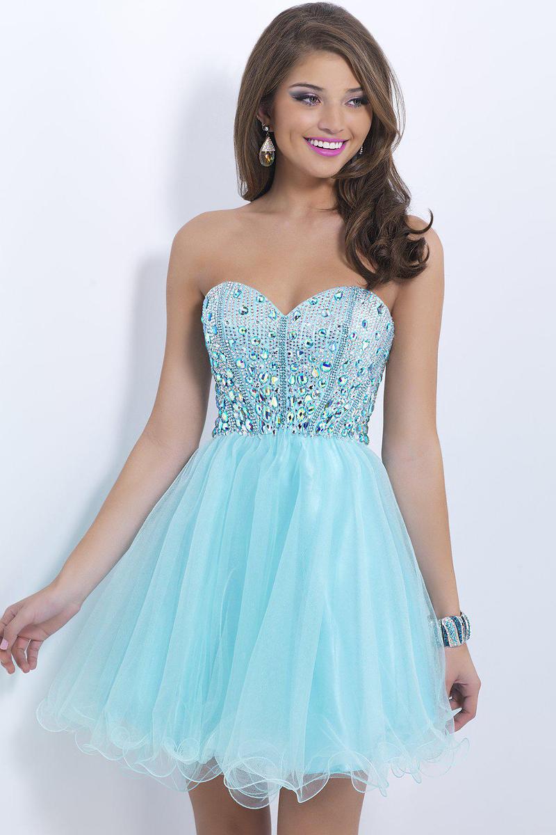Short Light Blue Dresses