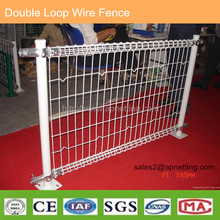 Double Loop decorative Garden Yard Fence colored Plastic Coated Metal Fencing panel