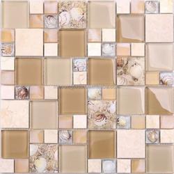 Electroplate Mosaic Tile Glass Stone Mosaic Wall Tile Seashell Mosaic Tile Electroplating Glass Mosaic