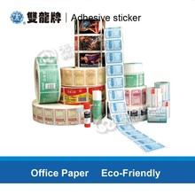 High quality full color print custom paper stickers in rolls for products description packaging label