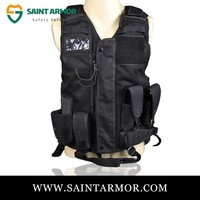 Hot Selling Lowest Price anti bullet black tactical vest airsoft bullet proof vest