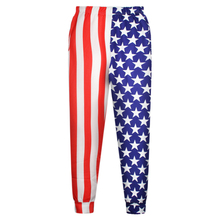 2015 new fashion Casual pants Polyester and Spandex High Quality US Flag Digital Print Pants N18-30