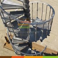 Outdoor spiral stair / cast iron spiral staircase