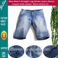 Dos homens azuis perna reta Denim lavável Casual 100% algodão dos homens de calções atacado Shorts Jeans baratos para homens