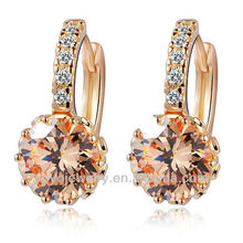 Elegant new design gold 2012 2 gram gold beautiful designed earrings