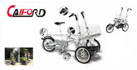 3 wheel small electric shopping carts with big shopping basket